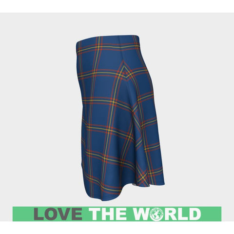 Image of Tartan Skirt - Maclaine Of Loch Buie Hunting Ancient Women Flared Skirt A9 |Clothing| 1sttheworld