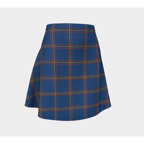 Tartan Skirt - Maclaine Of Loch Buie Hunting Ancient Women Flared Skirt A9 |Clothing| 1sttheworld