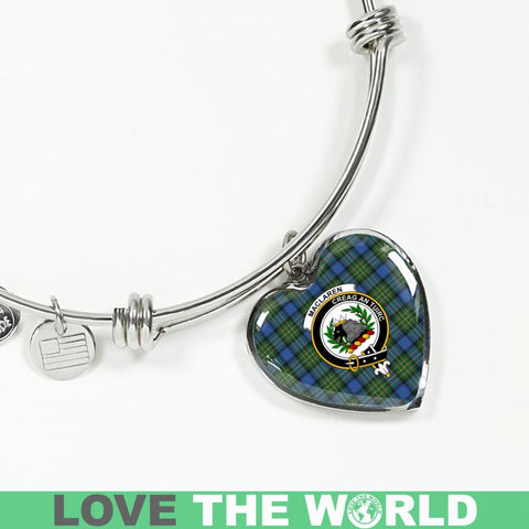 Maclaren Ancient Tartan Silver Bangle - Sd1 Luxury Bangle (Silver) Jewelries