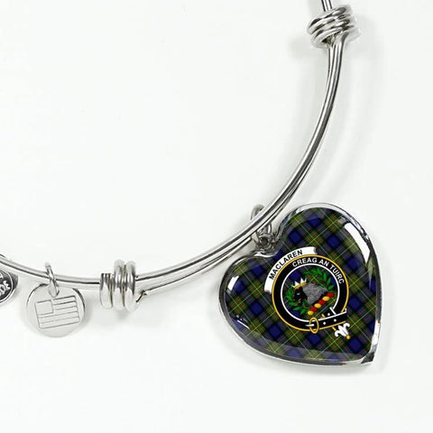 Maclaren Tartan Silver Bangle - Sd1 Jewelries
