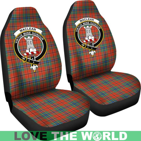 Image of Maclean Clan Badges Tartan Car Seat Cover Ha5