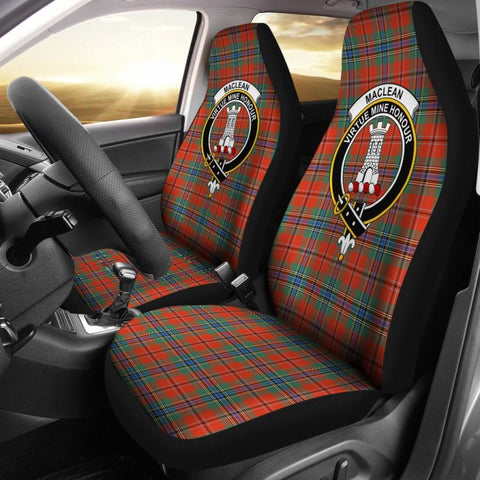 Maclean Tartan Car Seat Cover - Clan Badge