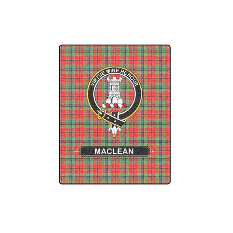 Image of Maclean Tartan Blanket | Clan Crest | Shop Home Decor
