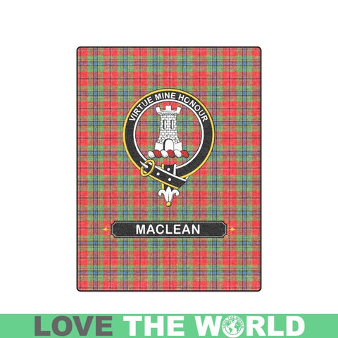 Maclean Tartan Blanket | Clan Crest | Shop Home Decor