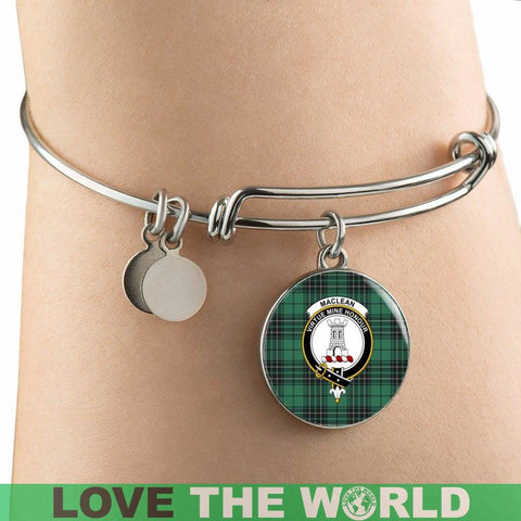 Maclean Hunting Ancient Tartan Silver Bangle - F1 Luxury Bangle (Silver) Jewelries