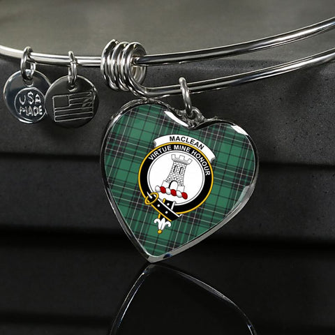 Maclean Hunting Ancient Tartan Silver Bangle - Ro7 Luxury Bangle (Silver) Jewelries