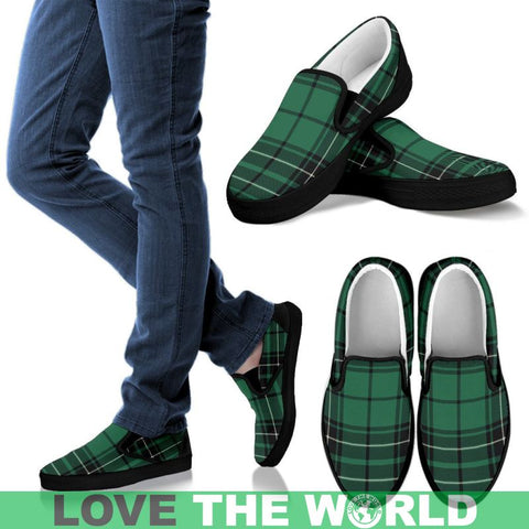 Image of Maclean Hunting Ancient Tartan Slip Ons Womens Slip Ons - White / Us6 (Eu36)