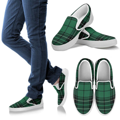Maclean Hunting Ancient Tartan Slip Ons Womens Slip Ons - White / Us6 (Eu36)
