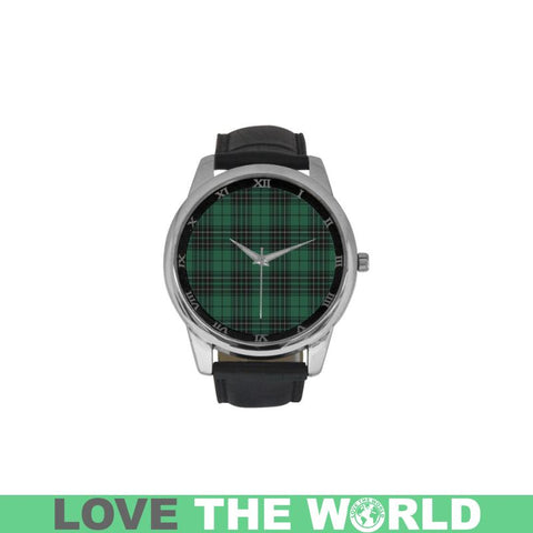 Maclean Hunting Ancient Tartan Watch Th1 One Size / Golden Leather Strap Watch Luxury Watches