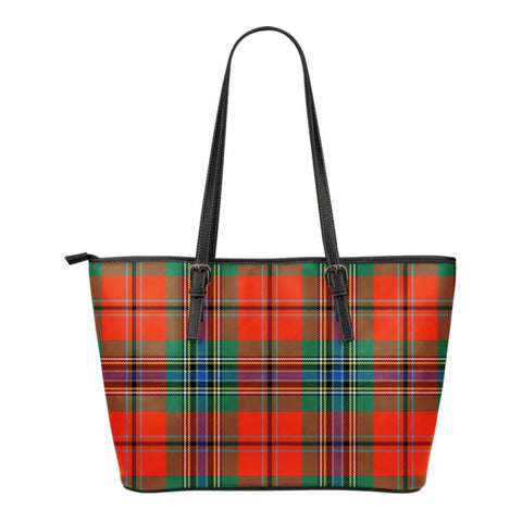 Maclean (Mclean) Of Duart Ancient  Tartan Handbag - Tartan Small Leather Tote Bag Nn5 |Bags| Love The World