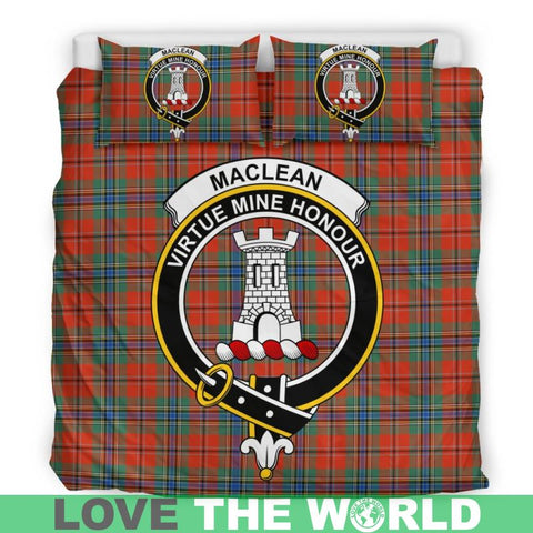 Maclean Of Duart Ancient Tartan Clan Badge Bedding Set Ha9 Bedding Set - Black Black / Queen/full