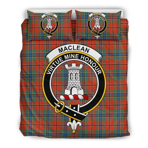 Maclean Of Duart Ancient Clan Badge Tartan Bedding Set Ha9 Bedding Set - Black Black / Queen/full