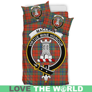 Maclean Of Duart Ancient Clan Badge Tartan Bedding Set K7