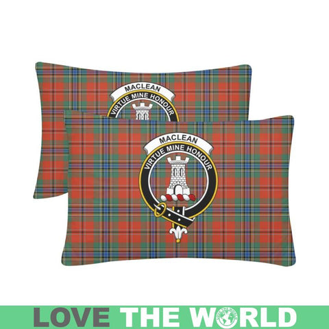 Maclean Of Duart Ancient Tartan Clan Badge Rectangle Pillow Hj4 One Size / Maclean Of Duart Ancient