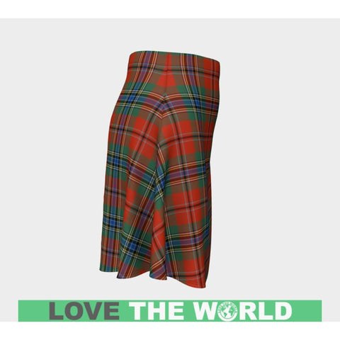 Tartan Skirt - Maclean Of Duart Ancient Women Flared Skirt A9 |Clothing| 1sttheworld