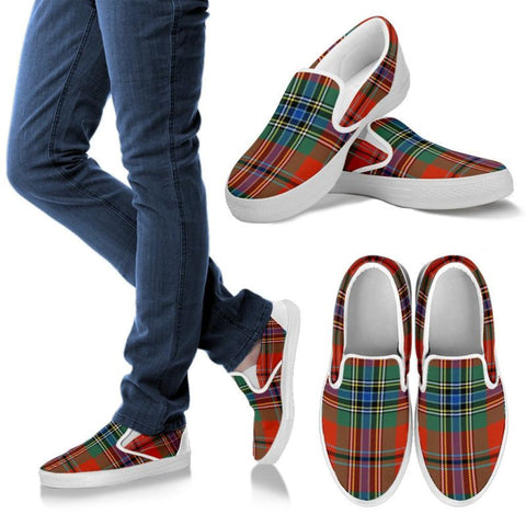 Maclean Of Duart Ancient Tartan Slip Ons Womens Slip Ons - White / Us6 (Eu36)