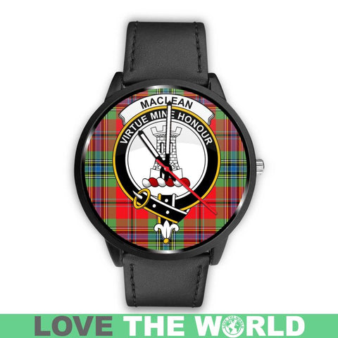 Maclean Of Duart Modern Clan Badge Tartan Leather/steel Watch - NN5 Mens 40Mm / Brown Watches