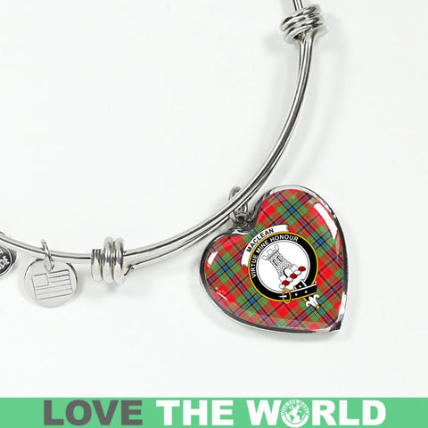 Maclean Of Duart Modern Tartan Silver Bangle - Ro7 Luxury Bangle (Silver) Jewelries
