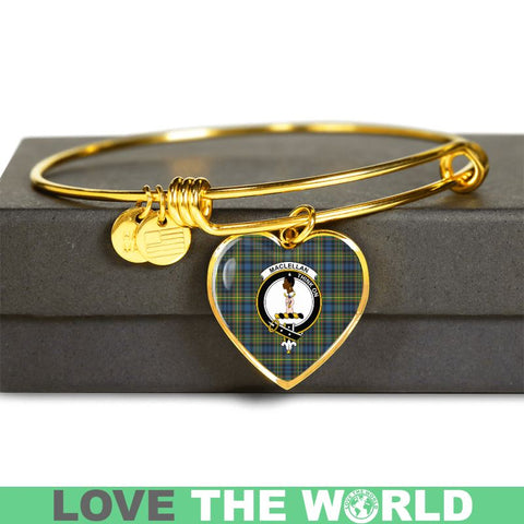 Maclellan Ancient Tartan Golden Bangle - Tn Adjustable Bangle Jewelries