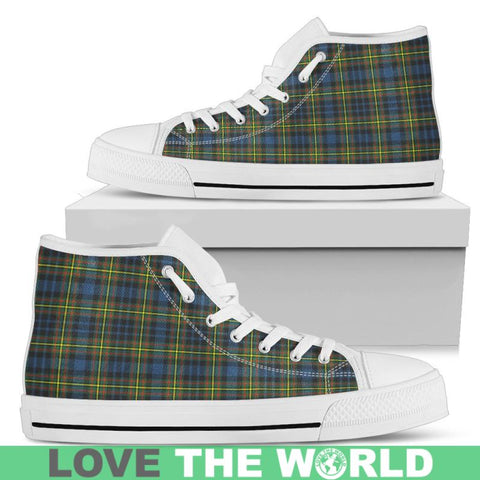 Image of Maclellan Ancient Tartan Canvas Shoes Mens - Black Black / Us5 (Eu38) Hightop