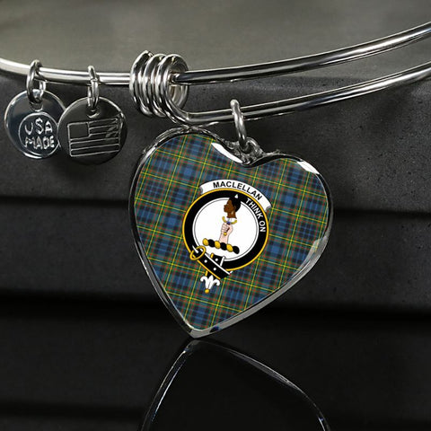 Maclellan Ancient Tartan Silver Bangle - Sd1 Luxury Bangle (Silver) Jewelries