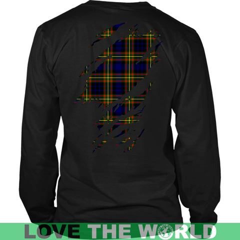 Image of Maclellan Modern In Me T-Shirt Ha8 District Long Sleeve Shirt / Navy S T-Shirts