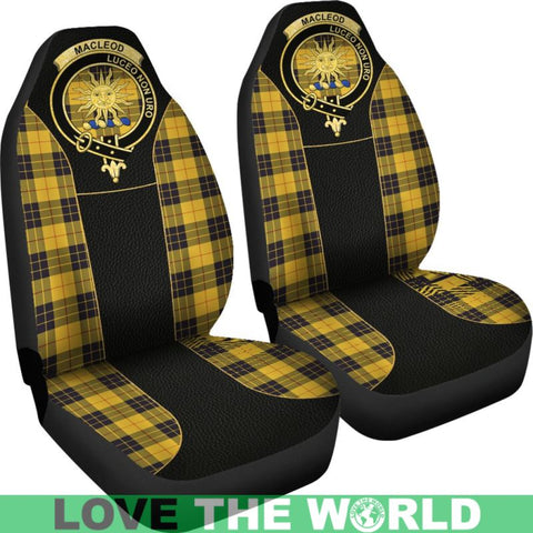 Maclellan Of Lewis Ancient Tartan Clan Badge Golden Car Seat Covers E5