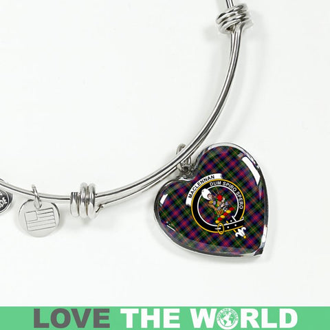 Maclennan Tartan Silver Bangle - Sd1 Jewelries