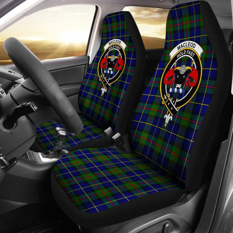 Image of Macleod Tartan Car Seat Cover - Clan Badge