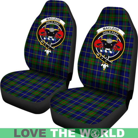 Image of Macleod Clan Badges Tartan Car Seat Cover Ha5