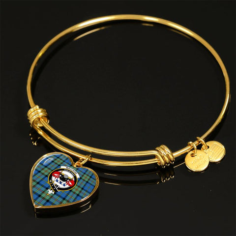 Macleod Of Harris Ancient Tartan Golden Bangle - Tn Jewelries