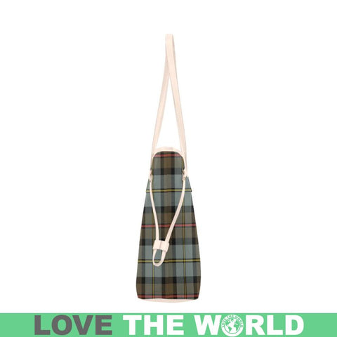 Macleod Of Harris Weathered Tartan Clover Canvas Tote Bag C32 Bags