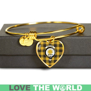 Macleod Of Lewis Ancient Tartan Golden Bangle - BN