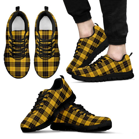 Image of Macleod Of Lewis Ancient Tartan Sneakers - Bn Mens Sneakers Black 1 / Us5 (Eu38)