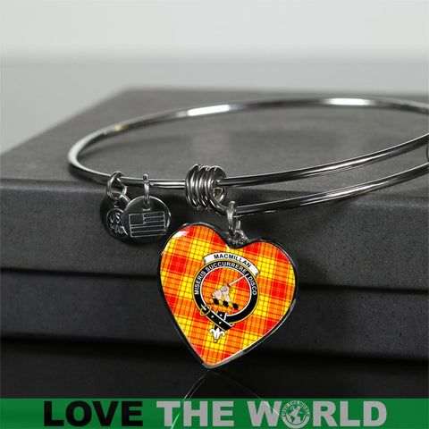 Macmillan Clan Tartan Silver Bangle - Sd1 Luxury Bangle (Silver) Jewelries