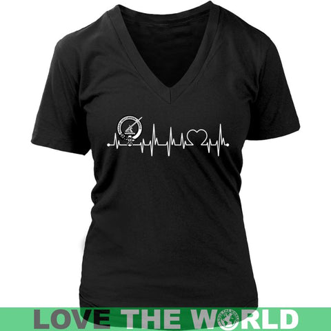Image of Macmillan In My Heartbeat N9 Gildan Womens T-Shirt / Black S T-Shirts