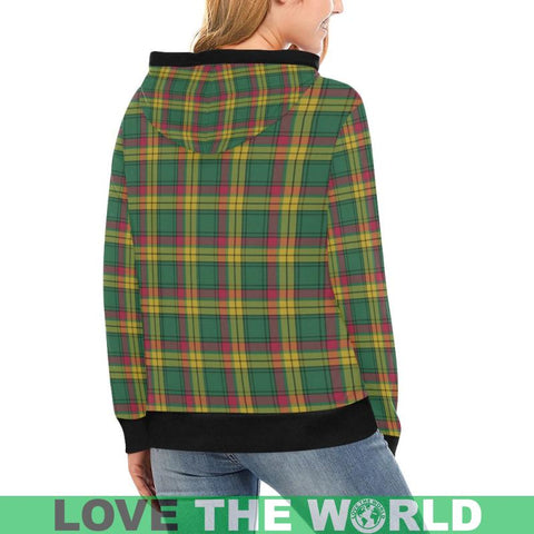 Image of Macmillan Old Ancient Tartan High Neck  Hoodie - Bn |Clothing| 1sttheworld