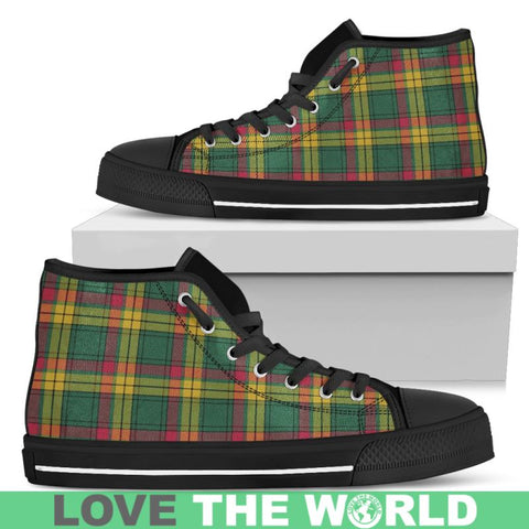 Image of Macmillan Old Ancient Tartan Canvas Shoes Mens - Black Black / Us5 (Eu38)