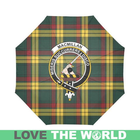 Macmillan Old Modern Clan Badge Tartan Umbrella Auto-Foldable  Th8
