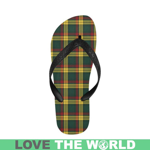 Macmillan Old Modern Tartan Flip Flops For Men/women C23 Unisex