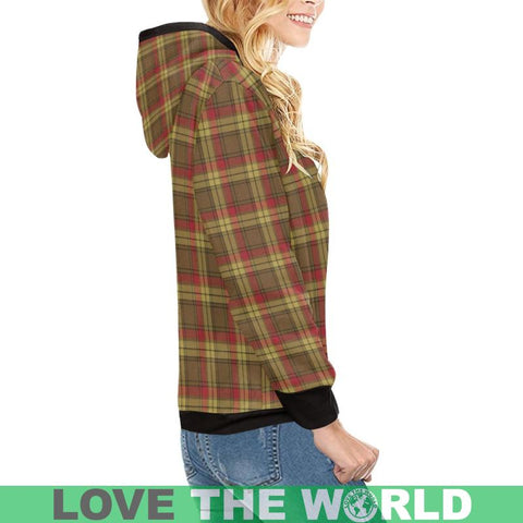 Image of Macmillan Old Weathered Tartan High Neck  Hoodie - Bn |Clothing| 1sttheworld
