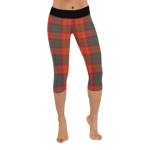 Macnab Ancient Tartan Capri Legging S2 Xxs / New Low Rise Capri Leggings (Flatlock Stitch) (Model