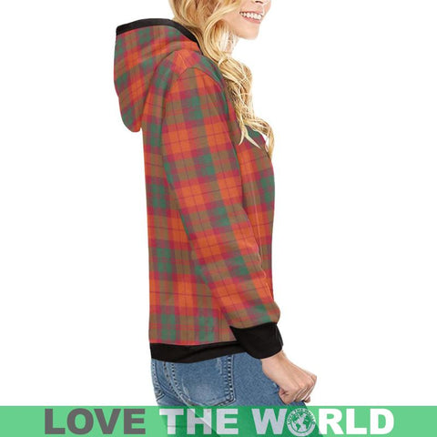 Macnab Ancient Tartan High Neck  Hoodie - Bn |Clothing| 1sttheworld