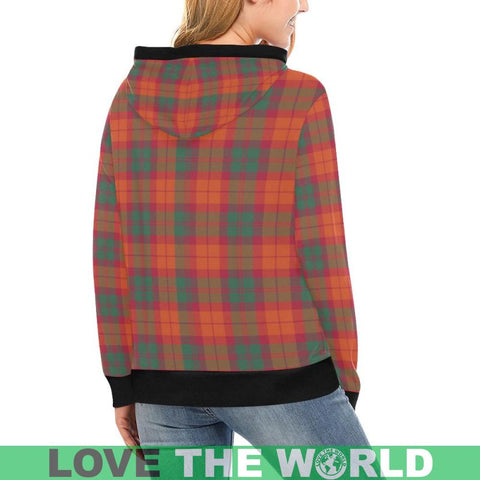Image of Macnab Ancient Tartan High Neck  Hoodie - Bn |Clothing| 1sttheworld