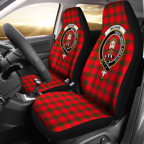 Image of Macnab Tartan Car Seat Cover - Clan Badge