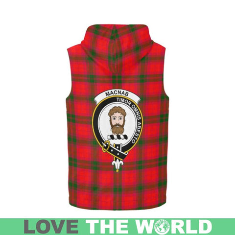 Macnab Modern Tartan Sleeveless Zip Up Hoodie - Tn S / All Over Print Sleeveless Zip Up Hoodie For
