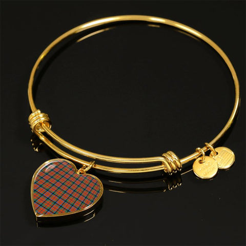Macnaughton Ancient Tartan Golden Bangle - Tn Adjustable Bangle Jewelries