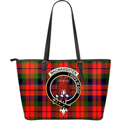 Macnaughton (Mcnaughton) Modern Tartan Handbag - Clan Badge Large Leather Tartan Bag