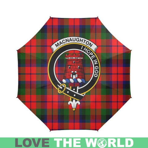 Image of Macnaughton Modern Tartan Clan Badge Semi-Automatic Foldable Umbrella R1 Semi Umbrellas