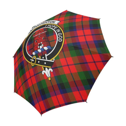 Macnaughton Modern Tartan Clan Badge Semi-Automatic Foldable Umbrella R1 Semi Umbrellas